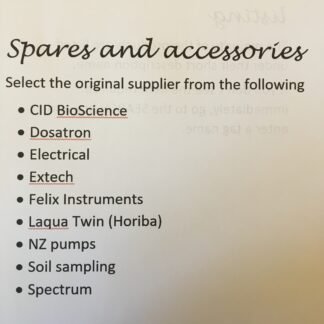 Spares, Accessories and services